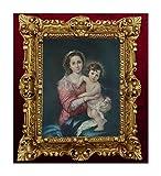 Cuadro Repro, artista religioso, Murillo María, Niño, iconos, antiguo, barroco, aspecto antiguo, 45 x 38 cm, MSC7