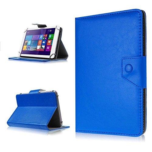 NAUC Tasche Hülle für ODYS Ieos Quad 10 Pro Schutzhülle Tablet Cover Hülle Bag Etui, Modellauswahl:Blau mit Magnetverschluss