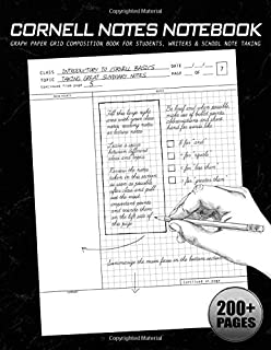 Cornell Notes Notebook: Graph Paper Grid Composition Book for Students, Writers & School Note Taking: Perfect for Classroom Notes, Lectures, ... Planning (Blank Books for College Students)