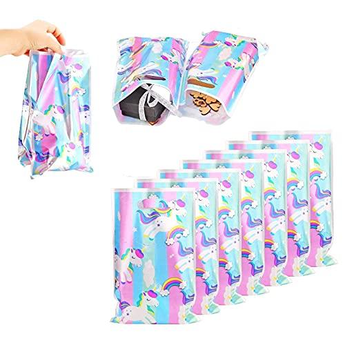 Reccisokz 40 pcs bolsitas de unicornio, bolsas de regalo de unicornios, Fiesta de cumpleaños para niños