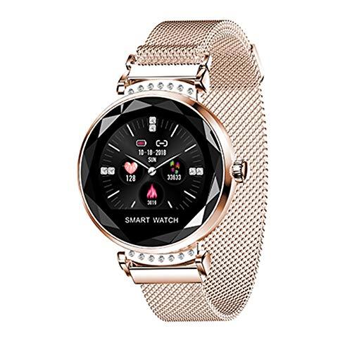 QIANRUNHE H2 Smartwatch Mode Damen Armband Pedometer, Fitness Pulsmesser Smart Armband Tracker, Frauen Blutdruck Sport Smart Armband