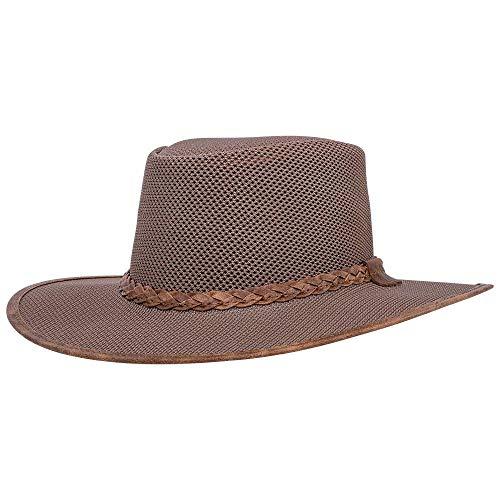 American Hat Makers Soaker Mesh Sun Hat for Men and Women — Tan, X-Large