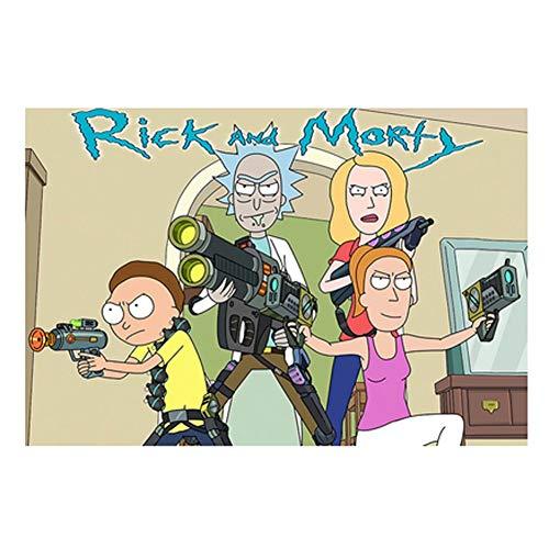 VAST Rompecabezas for niños for niños, Dibujos Animados y Rick Morty Animado Tilo Rompecabezas, Fit 300 ~ 1000 Piezas en Caja Juguetes Arte del Juego 523 ( Color : B , Size : 500pc )