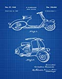 Vespa Roller Patent Poster Scooter Wall Art Scooter Decor