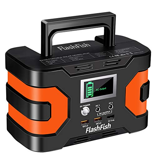 FlashFish 200W Portable Power Station w/ 45,000ah 166Wh Battery - $106.24