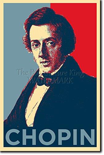 TPCK Frederic Chopin Kunstdruck (Obama Hope Parodie) Hochglanz Foto Poster Frédéric - Maße: 30 x 20 cm