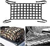 Bosmutus Cargo Net 6 .5x4.2 ft Short Truck Bed Cargo Net Heavy Duty Cargo Nets for Pickup Trucks with CAM Buckles & S-Hooks (76' x 50')