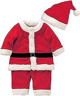 بدلة سانتا كلوز للأطفال الرضع من الأولاد والبنات مجموعة أزياء عيد الميلاد الهالوين