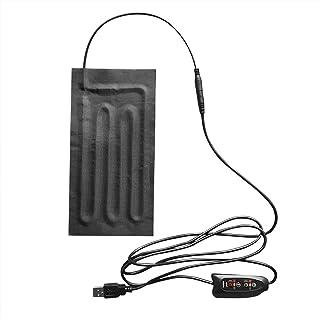 Yicdfur USBヒーター 電気加熱シート パッドヒーター DC5V 足元暖房 過熱保護 冷え性に対応 あったか 防水 3段階温度調節 タイマー機能 5V/2Aに適用 炭素繊維+不織布