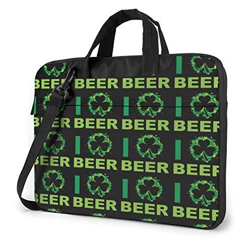 Laptop Messenger Laptop Bag Love Beer Shamrocks Irlanda Bolso de Hombro Maletín Oficina Funda para Laptop Funda Satchel Tablet para Hombres Mujeres