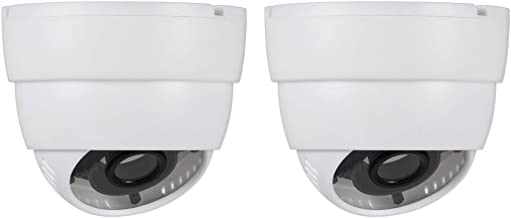 uxcell Dome Security Camera Housing Case Mount Enclosure Replacement for Home Outdoor Indoor White 2pcs