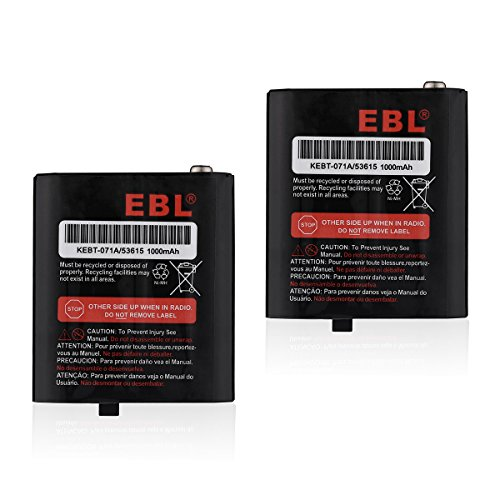 EBL 2 Packs 3.6V 1000mAh Two-Way Radio Rechargeable Batteries for 53615 KEBT-071A KEBT-071-B KEBT-071-C KEBT-071-D