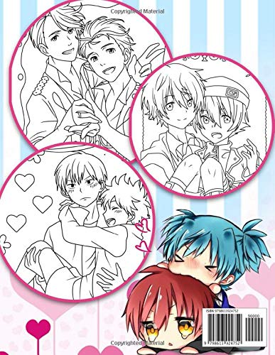 YAOI Coloring Book: Anime Yaoi Coloring Book With Cute Images