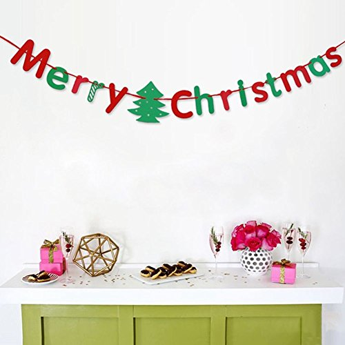 SSITG Merry Christmas Tree sokken vlag slinger Banner Kerstmis Party Decor
