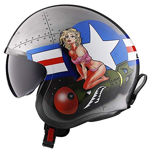 LS2 Helmets Open Face Spitfire Helmet (Bombrider - X-Large)