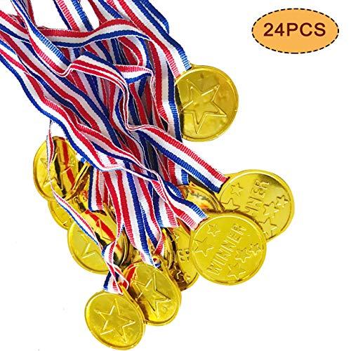 VSTON Medallas de plástico para niños Ganador de oro Premios Premios para...