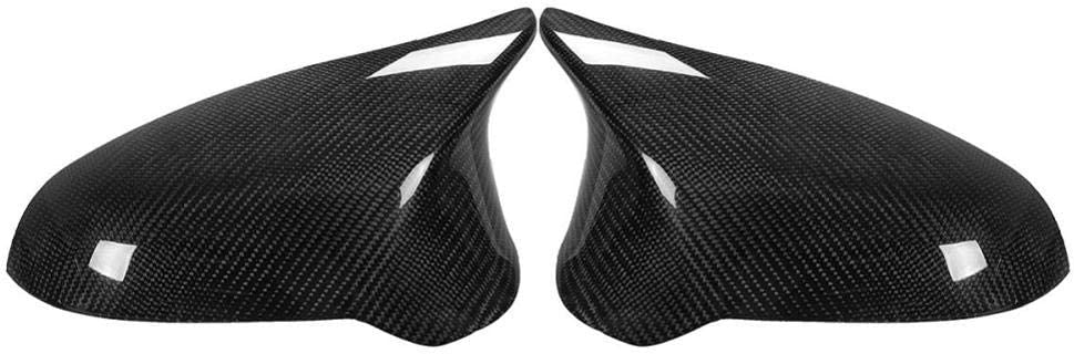 HJPOQZ A Pair Carbon Fiber Car Max 83% OFF Side View Door Mirror Rear gift Cover
