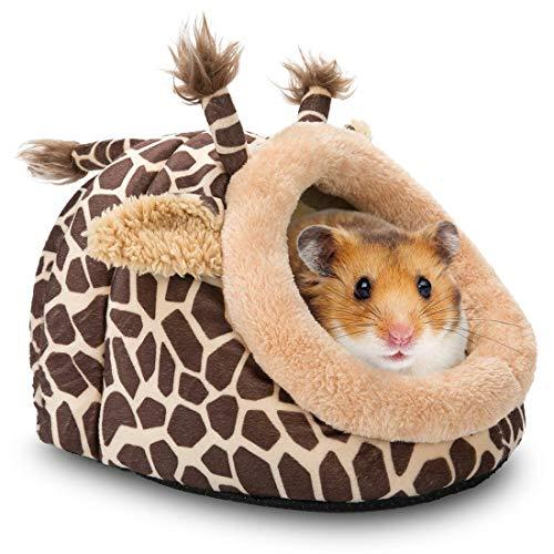 PUBAMALL Cama de Animales pequeños Mascotas Casa Caliente y Jaula para Hamster Chinchilla Erizo Conejillo de Indias Barbudo Dragón...