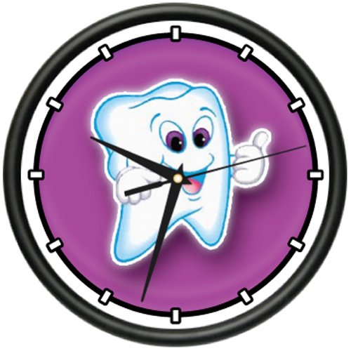 Amazon.com: DENTIST 1 Wall Clock teeth tooth mouth dentist tooth brush dental surgeon gift: Home & Kitchen
