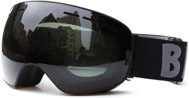 Lsrryd Skibrille Anti-Fog UV-Schutz Sphrische Spiegel Objektiv mit über Brille Skifahren Motorrad Snowboard Berg Unisex (Farbe   E)