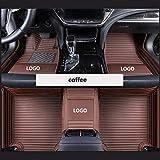 FYMIJJ Juego de Alfombrillas de Coche,Alfombrillas de Coche para Rolls-Royce Ghost Phantom Car Styling Accesorios de automóvil 1 Pedido, café