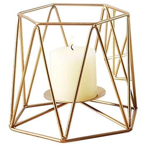 TOOGOO Nordique Geometrique Chandelier en Fer Forge Dore Minimaliste Marocain Chandelier Chambre A Coucher Decorations De Table Accessoires Or L