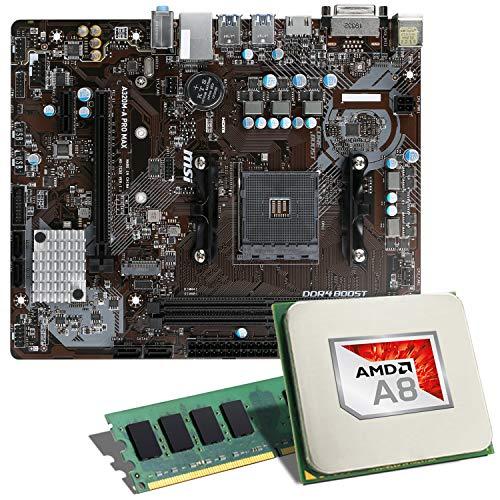 AMD A8-9600 / MSI A320M-A PRO MAX / 8GB Mainboard Bundle | CSL PC Aufrüstkit | AMD A8-9600 4X 3100 MHz, 8GB DDR4-RAM, GigLAN, 7.1 Sound, USB 3.1 | Aufrüstset | PC Tuning Kit