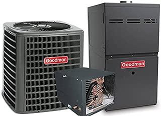 3 Ton Goodman 14 SEER R410A 80% AFUE 80,000 BTU Horizontal Gas Furnace Split System