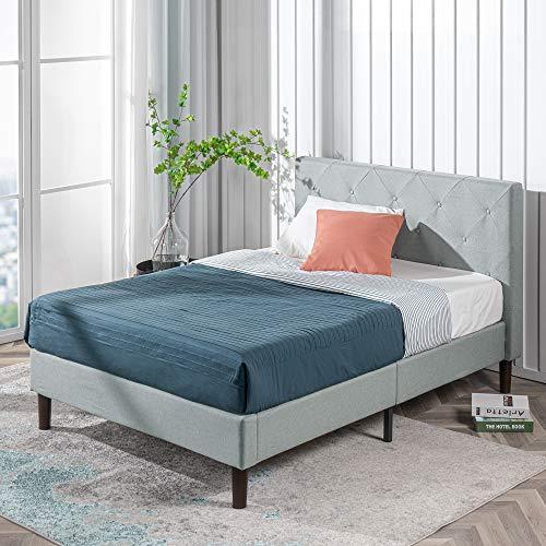 ZINUS Shalini Upholstered Platform Bed Frame / Mattress Foundation / Wood Slat Support / No Box Spring Needed / Easy Assembly, Sage Grey, Full