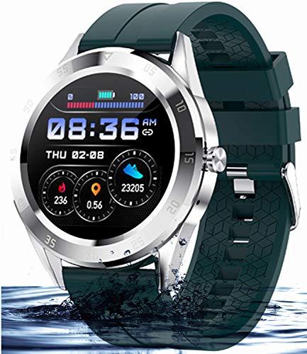 Orologio Intelligente Uomo Smartwatch Braccialetto Sport IP68 Impermeabile Cardiofrequenzimetro Monitor del Sonno Orologio Intelligente Activity Tracker Compatibile con Android IOS (verde)