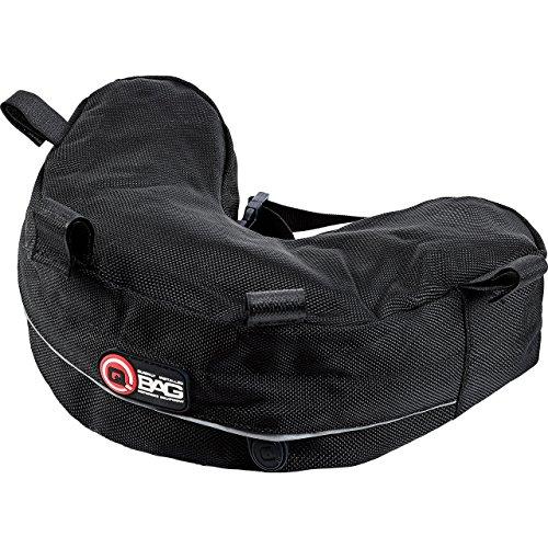 QBag Hecktasche Motorrad Motorradtasche Gepäckträgertasche für BMW R 1200 GS 04-12, spezielle Form, gepolsterte Unterseite, reflektierende Keder, Schwarz, 2,5 Liter