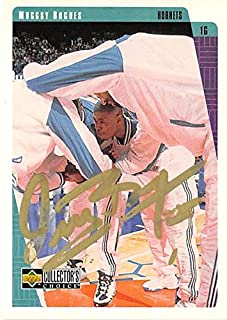 Autograph Warehouse 291540 Muggsy Bogues Autographed Basketball Card - Charlotte Hornets 1997 Upper Deck No. 13
