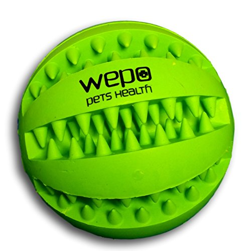 WEPO Dog Toy | Durable Kauball Made from Natural Rubber (Rubber) with Knobs for Cleaning and Maintaining Healthy Teeth | for Large and Small Dogs | Indestructible Throwing Ball | Snack Ball