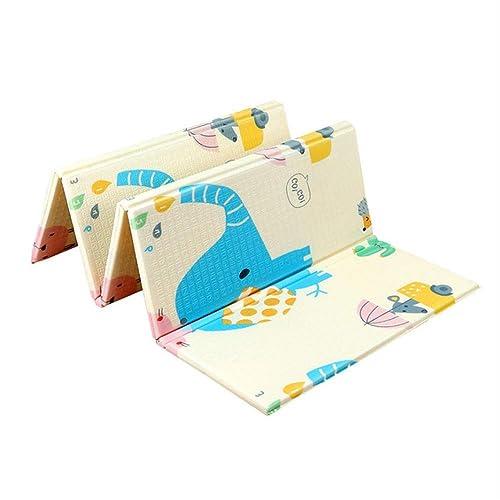 Eknc Tapis De Sol Nouveau 200  180Cm 1Cm épaisseur Bébé Tapis Tapis De Jeu Mousse Puzzle Tapis Enfant Tout-Petit Crawl Bébé Couverture B Tapis Pliant