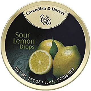 Cavendish & Harvey Hard Candy, Sour Lemon Drops 1.75oz (Pack of 6)