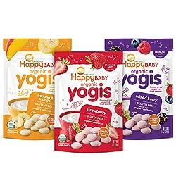 commercial Happy Baby Organic Yogis Organic Yogurt  Fruit Snacks, 3 Flavors, 1 oz ancouver yogurt brands
