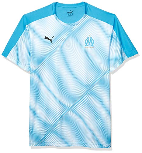 PUMA Herren Olympique de Marseille OM Stadium Jersey Domestic League T-Shirt, Bleu Azur White, X-Klein