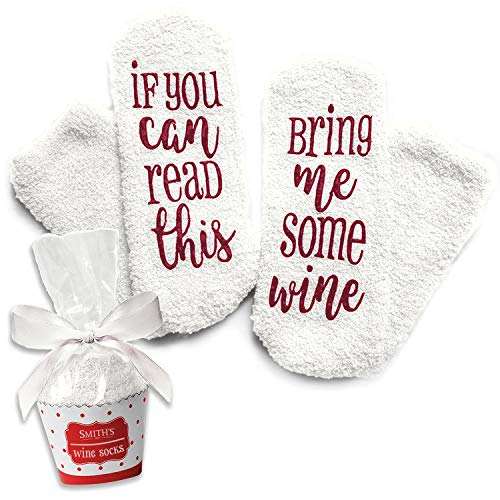 Weiß Luxus-Wein-Socken mit