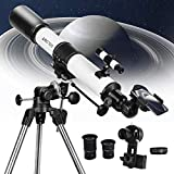 Telescope 80EQ Refractor Scope - 80mm Aperture and 700mm Focal Length, Multi-Layer Green Film, with...