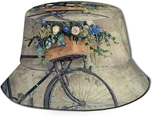 Zharkli - Gorro de bicicleta vintage con cesta de flores para el...