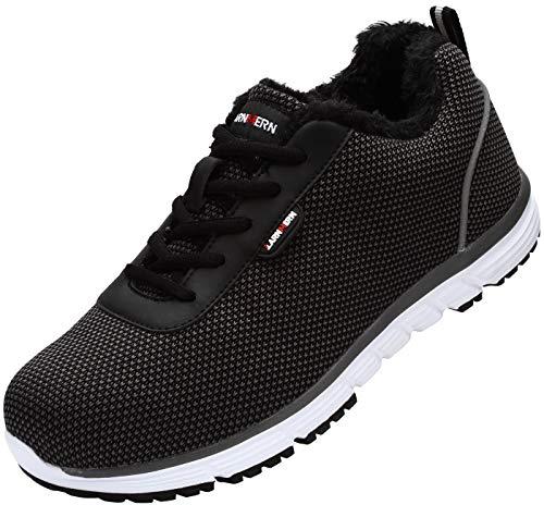 LARNMERN Steel Toe Shoes Men,Winter Safety Work Sneakers(9.5)