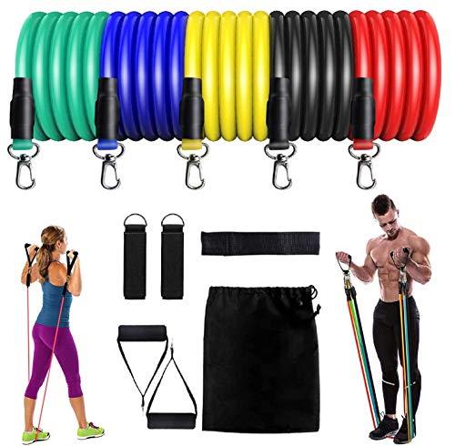 JSDing Bandas Elásticas Fitness | Conjunto de Bandas de Resistencia Mujeres Hombres 100 LB Bandas de Entrenamiento de Estiramiento físico Gimnasio en casa Gimnasio Fisioterapia