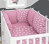 Nid d'ange – 6 coussins en velours pour lit bébé 70 x 140 cm