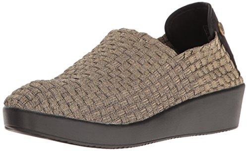 Bernie Mev Women's Smooth Cha Slip-On Loafer, Bronze, 40 EU/9.5-10 M US