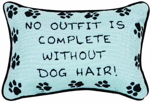 Manual 12.5 x 8.5-Inch Decorative Throw Pillow, Without Dog Hair
