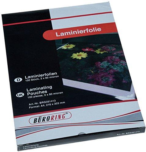 BüroLine Laminierfolie, A4, 80mic