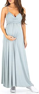 Women's Cami Strap Ruched Maternity Dress - Made in USA