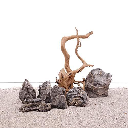 AquaOne Aquarium Natursteine Wurzel Mini Landschaft Moorkienwurzel Set W1 Gr.M Deko Aquascaping