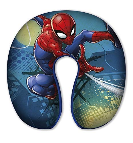 Coussin de voyage Spiderman Marvel en polyester...