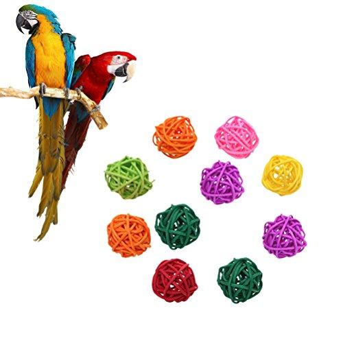 VILLCASE Giocattolo di Uccelli Palle di Rattan Giocattolo Giocattoli di Uccelli Pappagallo da Masticare Giocattoli da Compagnia Uccello da Masticare Tavolo da Gioco Festa di Nozze
